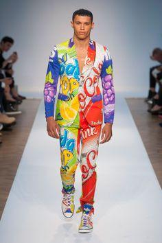 Défilé Moschino, homme printemps-été 2015, Londres. #LFW #SS15 #Fashionweek #runaway