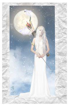 """"" A Woman, A Goddess "" - Selene"" by selene-cinzia ❤ liked on Polyvore featuring art"