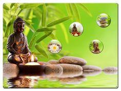 Magnettafel 40 x 30 cm Buddha Wellness inkl. 4 Magnete