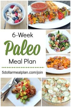 6 Week Paleo Meal Plan - healthy recipe idea for the family  ~ this plan/guide is for anyone who is looking to try the Paleo (or Whole30 diet) without breaking the bank | 5DollarDinners.com