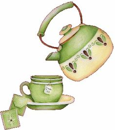 teatime.quenalbertini: Teacup and teapot illustration