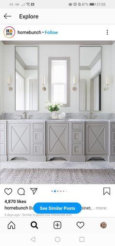 Cabinet Design, Bathroom Inspiration, Double Vanity, Home Remodeling, Storage, House, Furniture, Home Decor, Master Bathrooms