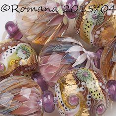 "Artisan Lampwork Beads by Romana - ""Sunny Day"" #ArtisanLampworkBeads"