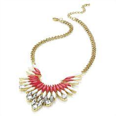 ♥ Fuschia & White Crystal Necklace/ Choker/Collar - £15