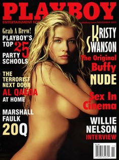Playboy magazine cover November 2002