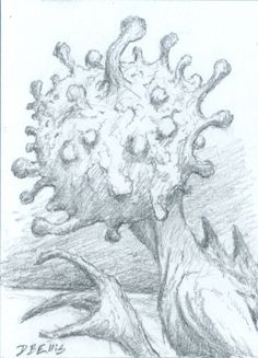 Mi Go   original sci fi art ACEO Lovecraft alien by dbellis, $5.15