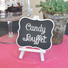 The Favors Boutique | Framed Chalkboard Table Easels