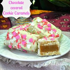 Chocolate Covered Cookie Caramels ~ gooey caramel center ! #ValentinesDay2014 #Valentines #SweetTreats