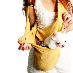Chihuahua - HEARTPUP: Scarf Sling Yellow, at 25% off!