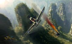 P-40 Flying Tiger Downing a Zero by Peter van Stigt