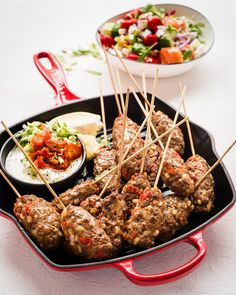 This easy Lamb Koftas recipe is a delicious dinner idea or an exotic starter. Serve this exquisite Middle Eastern dish with a Greek salad, Tzatziki & pita bread. Lamb Koftas, Middle Eastern Dishes, Fresh Mint Leaves, Bo Peep, Pita Bread, Greek Salad, Tzatziki, Smoked Paprika
