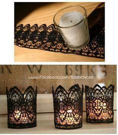 Una vela decorada, fácil y rápido