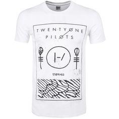 Twenty One Pilots Thin Line Box Mens T-Shirt ($19) ❤ liked on Polyvore featuring men's fashion, men's clothing, men's shirts, men's t-shirts, mens white shirts, mens american flag t shirt, mens thin t shirts, mens t shirts and mens american flag shirt