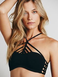 Free People Pyramid Strappy Front Bra at Free People Clothing Boutique