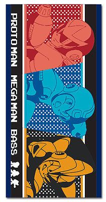 Nintendo Megaman X Group Protoman, Mega Man 10 Beach or Bath Towel NEW