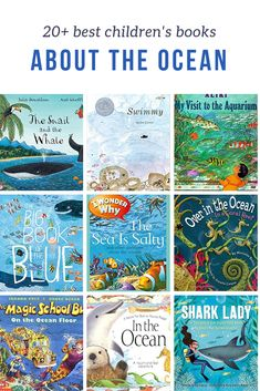Explore under the sea with children's books about the ocean. Children will learn facts about the ocean and meet fun sea characters in picture books. Preschool Books, Preschool Kindergarten, Preschool Activities, Best Children Books, Toddler Books, Montessori Books, Ocean Unit, Kids Library, Reading Rainbow