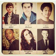 The cast for The Maze Runner!
