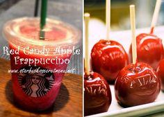 Starbucks Secret Menu Red Candy Apple Frappuccino! Recipe: http://starbuckssecretmenu.net/starbucks-secret-menu-red-candy-apple-frappuccino/