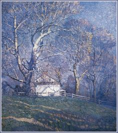 """Buttonwood Farm"" Pennsylvania (1920) by N.C. Wyeth"