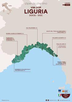 Tutti i vini DOP (DOCG e DOC) della Liguria, localizzati sulla carta regionale Wine Pics, Wine Tasting Party, Italian Wine, Wine Drinks, Wine Recipes, Maps, Vineyard, Geography, Map Of Italy