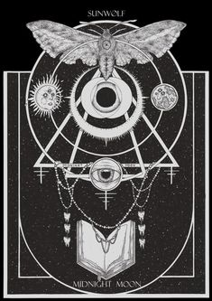 Portfolio by Adrian Baxter, via Behance #illustration #black #white #dark #moth #occult
