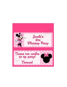 Printable Customized Candy Bar Wrapper - Minnie Mouse by KatiePaigeDesign