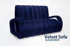 Velvet Sofa by Sand & Birch Design. Vendiamo il primo prototipo del Velvet Sofa, in velluto Nobilis viola. Dimensioni: 172x90x95cm. Prodotto nel 2008, è in ottime condizioni. Prezzo 5000  Euro   Velvet Sofa by Sand & Birch Design. On sale the first Velvet Sofa prototype in purple velvet Nobilis velvet. Dimensions: 172x90x95cm. Produced in 2008, it is in very good condition. Price 5000 Euros #velvet sofa #velvet #nobilis #design #sofa #sand & birch #prototipo #prototype #furniture #purple…
