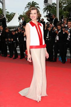 Eva Herzigova and Milla Jovovich  model perfect at Cannes