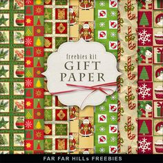 New Freebies Kit of Backgrounds - Gift Paper