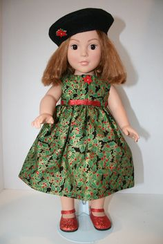 American girl Doll ClothesHolly Holiday Maxi by KathiesDollCloset, $10.99