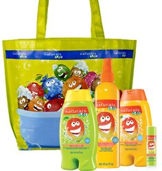 """NATURALS KIDS Magnificent Mango 5-Piece Body Collection, $14.99. Try our newest scent – Magnificent Mango! Collection includes:   Detangling Spray (Leaves hair feeling silky and manageable). 8.4 fl. oz.   Shampoo & Conditioner (Gentle hair care that kids can use every day!) 8.4 fl. oz.   Body Wash & Bubble Bath (Our gentle washes can be used two ways). 8.4 fl. oz.  Lip Balm (Glides on to moisturize lips). .18 oz. net wt.  Kids Tote Bag 17 3/4"""" L x 5"""" D x 12 1/2"""" H. I SELL AVON!"""