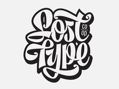 Lost Type -lettering by Mika Melvas