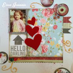 I created this layout as part of a challenge at a class presented by Cariena Basson from Scrapbook Studio {Jeffrey's Bay, South Africa}. They can be found here: shop.scrapbookstudio.co.za Please visit my blog for more cards & layouts: ericajoannie.blogspot.com Thank you for looking!! :-) My Scrapbook, Scrapbooking, South Africa, Layouts, About Me Blog, Challenge, Presents, Studio, Create