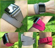 Lucrin's take on the Hermés double tour Apple Watch band