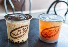 "I like these short and fat bubble tea cups. ""Half & Half Tea House | Kirbie's Cravings | A San Diego food blog"""