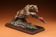 """The One That Got Away by Jim Gilmore Bronze ~ 19.5"""" x 36"""""""
