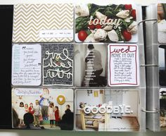 Love how Ali used on her Story Cards (from TechniqueTuesday.com) to document Wednesday on her pocket page layout here.