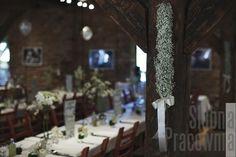 dekoracje weselne z gipsówki