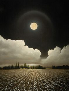 Full moon over the field.....so beautiful