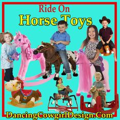 Rocking Horse, hobby horse and stick horse toys, spring horse, jumpy ball horse toy,horse toy with wheels and horse scooter are some of the fun horse toys that kids and adults can enjoy. See video of how toys work.