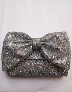 Silver Glitter Clutch Bag. Gorgeous!