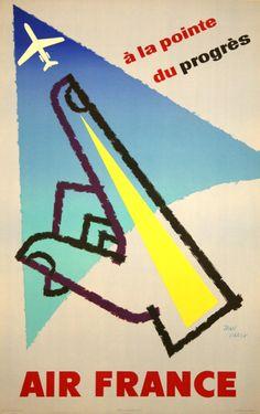 1958 Air France poster by Jean Carlu
