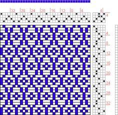 Hand Weaving Draft: 12 sur 12, Planche A, No. 30, P. Falcot: Traité Encyclopedique et Méthodique de la Fabrication Des Tissus, 4S, 5T - Hand... blanket possibility