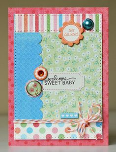 Welcome Sweet Baby Card. #cartabellapaper
