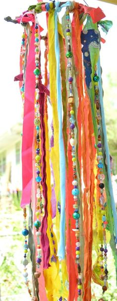 "The ""Boho Jellyfish"" - Wind Chime, Mobile, Garden Art, Bohemian Garland"