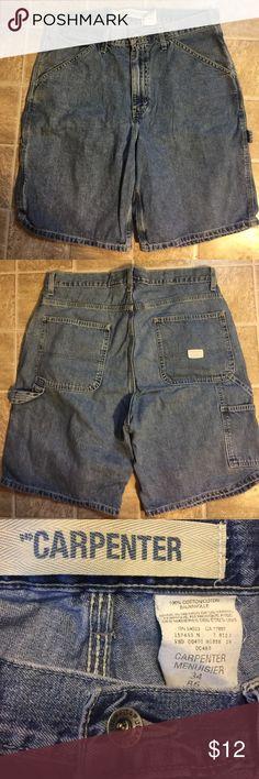 Gap men's denim carpenter shorts. Sz 34. Nice! Gap men's denim carpenter shorts. Sz 34. Nice! GAP Shorts Jean Shorts