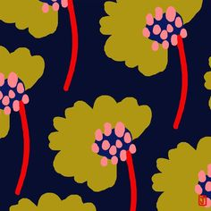Textile Prints, Textile Patterns, Textile Design, Flower Patterns, Print Patterns, Textiles, Design Art, Motif Floral, Arte Floral