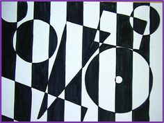 I loved 'op art' It was so modern and different. Our parents hated it of course - which was exceedingly good. Op art would be used for decorations and displayed on wall hangings. Bridget Riley Artwork, 8th Grade Art, Art Journal Prompts, Elements And Principles, Art Therapy Activities, Illusion Art, Diy Canvas Art, Teaching Art, Teaching Ideas