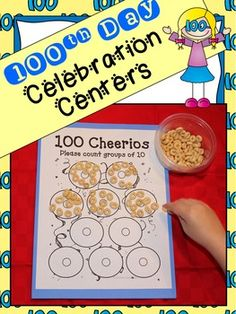 day of school celebration centers ***with editable parent letters*** 100 Days Of School, School Holidays, School Fun, Letter To Parents, Parent Letters, School Themes, School Ideas, 100s Day, Teaching Kindergarten