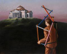 """Stefano Di Stasio, """"La via della misura"""", 2011, cm 80×100, olio su tela"""